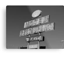 Forgotten Road side Motel. Metal Print