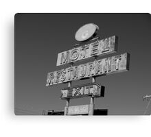 Forgotten Road side Motel. Canvas Print