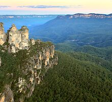 Three Sisters Twilight, Blue Mountains, Australia by Michael Boniwell