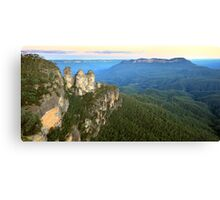 Three Sisters Twilight, Blue Mountains, Australia Canvas Print