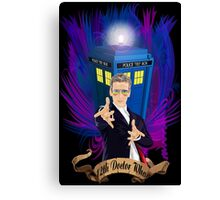 Time and Space Traveller with Rainbow Ray Ban Glasses Canvas Print