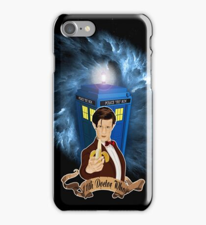 Time and Space Traveller with Banana iPhone Case/Skin