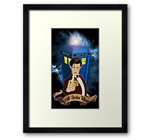 Time and Space Traveller with Banana Framed Print