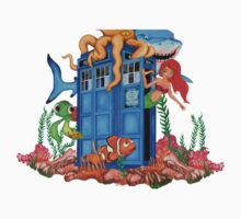 Blue Phone Booth Under the sea Kids Clothes