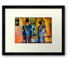 All this history - frozen in time. Framed Print