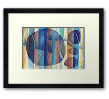 Dimensional Forest 3 Framed Print
