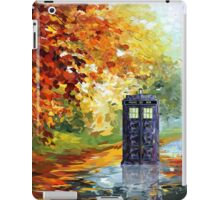 Autumn British Blue phone box painting iPad Case/Skin