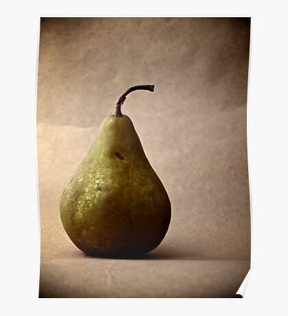 Pear on Paper Poster