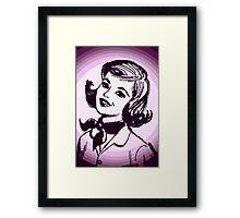Vintage Purple Girl Framed Print