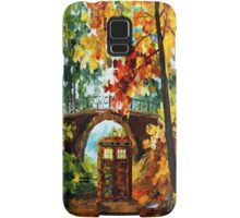 Abandoned time travel phone box under the bridge painting Samsung Galaxy Case/Skin
