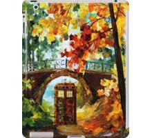 Abandoned time travel phone box under the bridge painting iPad Case/Skin