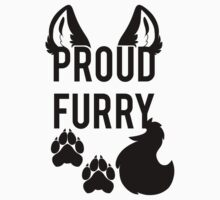 PROUD FURRY   -black- by 8Bit-Paws