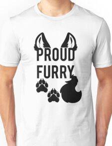 PROUD FURRY   -black- Unisex T-Shirt