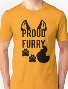 PROUD FURRY   -black- T-Shirt