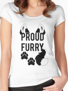 PROUD FURRY  -clear tips- Women's Fitted Scoop T-Shirt