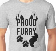 PROUD FURRY  -clear tips- Unisex T-Shirt