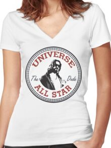 The Dude All Star Women's Fitted V-Neck T-Shirt