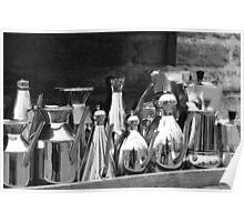 Silver coffee pots Poster