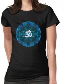 Lapis Lazule Space Om Womens Fitted T-Shirt