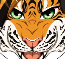Headphone Tiger Sticker
