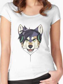 Headphone Wolf Women's Fitted Scoop T-Shirt