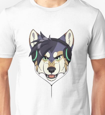 Headphone Wolf Unisex T-Shirt
