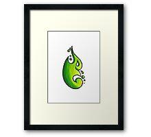 Tina / طينة (acid green) Framed Print