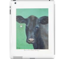Cow with a Pearl Earring iPad Case/Skin