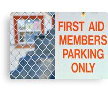 first aid Canvas Print