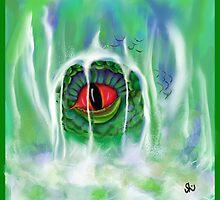 Dragon's Eye in the Waterfall by SGodsey