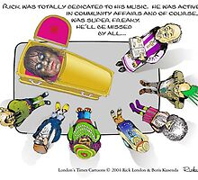 Rick James Super Freaky Tribute Cartoon by Londons Times by Rick  London