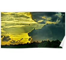 Sunset Cloud Animal Poster