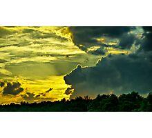 Sunset Cloud Animal Photographic Print