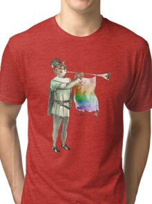 Rainbow Cat Tri-blend T-Shirt