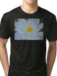 "Fine art. Water Lillie ""Tenderness""Oil painting. Nature. Flower Tri-blend T-Shirt"