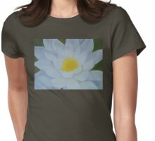 """Fine art. Water Lillie """"Tenderness""""Oil painting. Nature. Flower Womens Fitted T-Shirt"""
