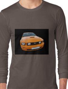 Orange Mustang Long Sleeve T-Shirt