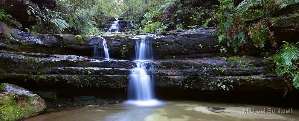 Terrance Falls, Blue Mountains, Australia by Michael Boniwell