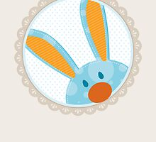 BUNNIES :: peeking circle 2 by Kat Massard
