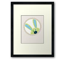 BUNNIES :: peeking circle 3 Framed Print