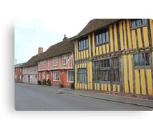 Timber Houses Canvas Print