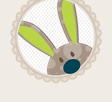 BUNNIES :: peeking circle 4 by Kat Massard