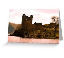 Urquhart Castle on Loch Ness Scotland Greeting Card