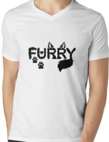 Furry Mens V-Neck T-Shirt