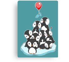 Penguin mountain Canvas Print