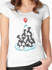 Penguin mountain Women's Fitted Scoop T-Shirt
