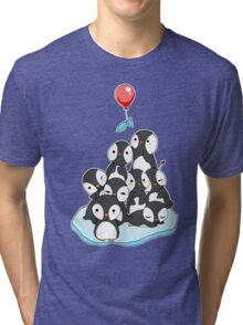 Penguin mountain Tri-blend T-Shirt