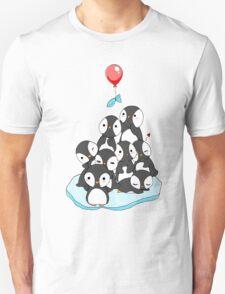 Penguin mountain Unisex T-Shirt
