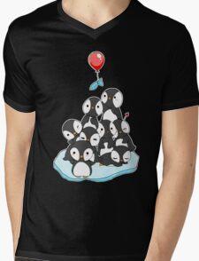 Penguin mountain Mens V-Neck T-Shirt