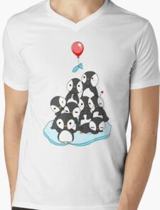 Penguin mountain Mens V-Neck T-Shirt